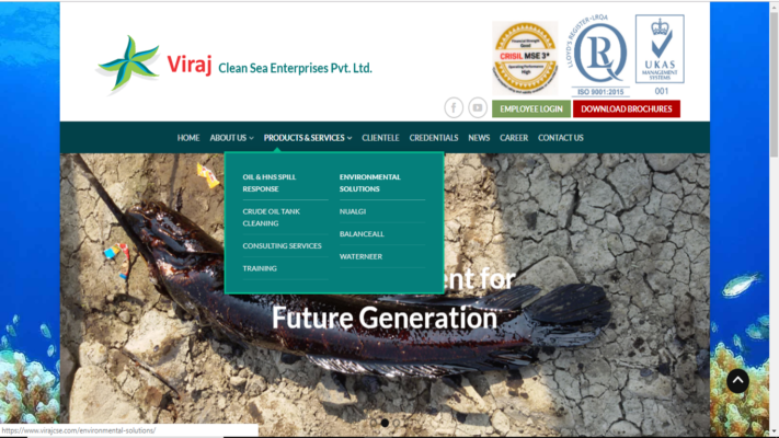 website designing - Viraj 711x400 - Viraj Clean Sea Enterprises Pvt.Ltd.