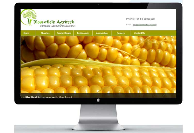 bloomfield agritech - portfolio pageagricultural logo and website design bloomfield agritech 1 - Bloomfield Agritech