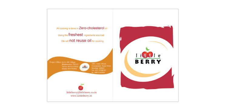 logo design - restaurent logo menu card design for little berry cafeteria 2 - Little Berry Cafeteria