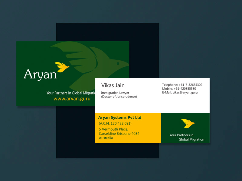 aryan immigration lawyers - aryan law firm branding logo design - Aryan Immigration Lawyers